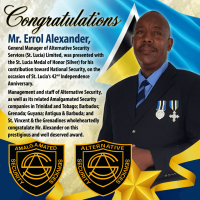 Congratulations Mr. Errol Alexander