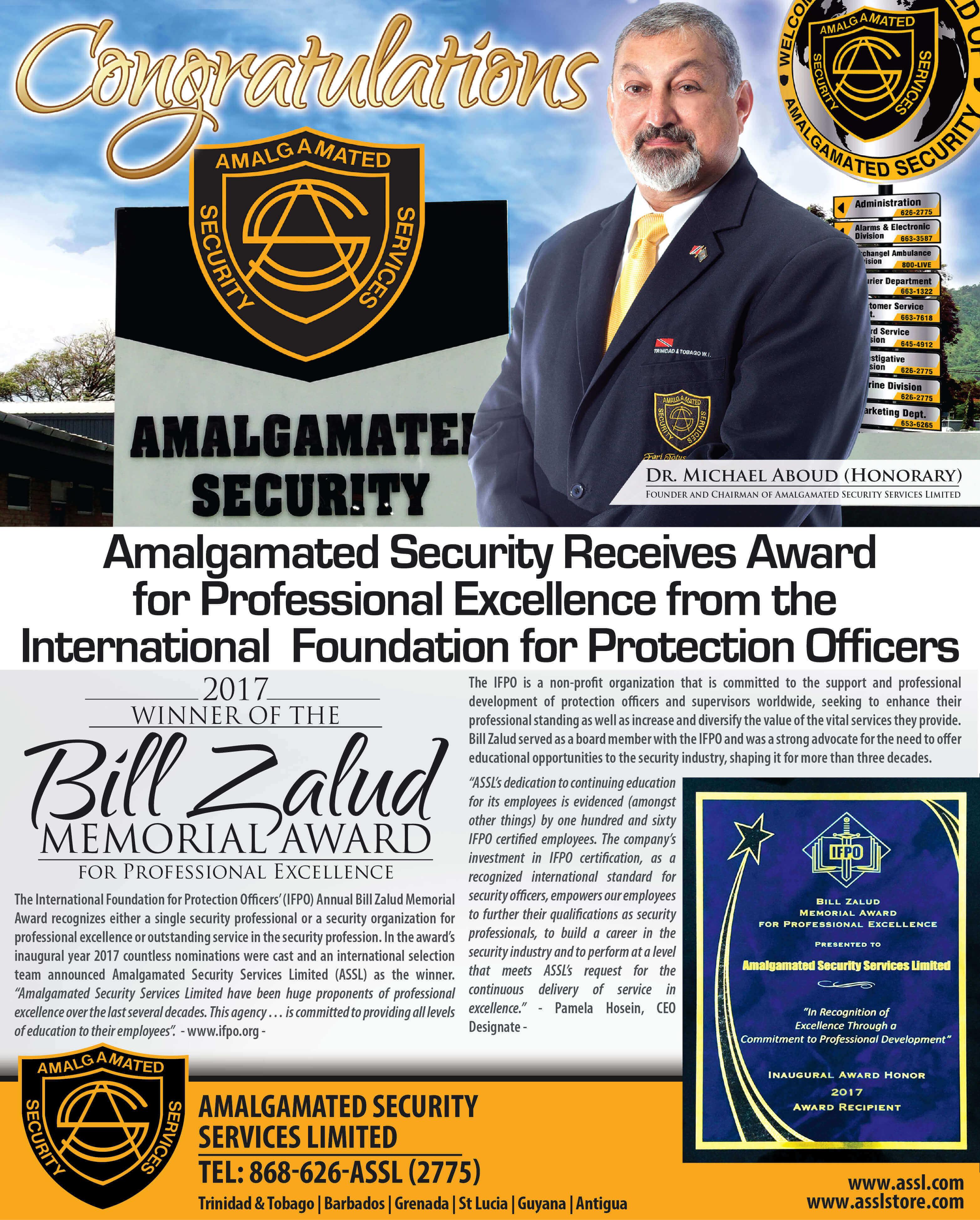 Amalgamated Security Services Limited - Cash Services Unit